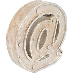 Letra @ gris metal 24.5 cm