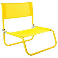Silla de playa Beach textileno amarilla
