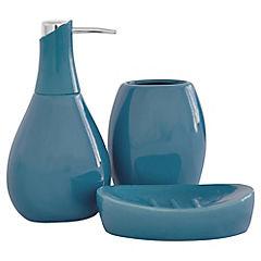 Set 3 pzs ceramica Air turquesa