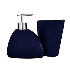 Set 2 pzs ceramica Wind azul