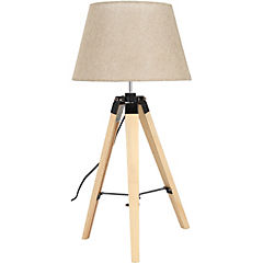 Lámpara sobremesa madera K096YG-L17