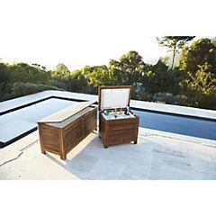 Ice box para terraza acacia 108x42x50 cm