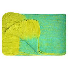 Manta verde/amarillo 125x150 cm