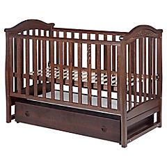 Cuna madera haya 1 cajón 126,5x70x99 cm chocolate