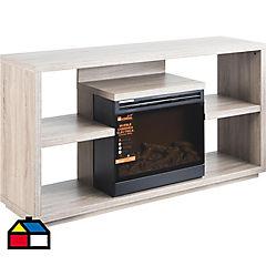 Rack TV con chimenea
