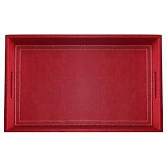 Bandeja rafia rojo 50x30 cm