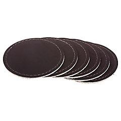 Set 6 posavasos rafia café 10 cm