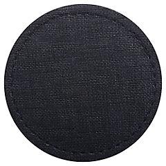 Set 6 posavasos rafia negro 10 cm