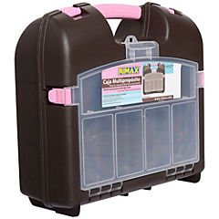 Caja organizadora 15 litros 36x13x43 cm chocolate