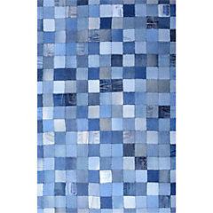 Alfombra Denim cuadros 120x170 cm
