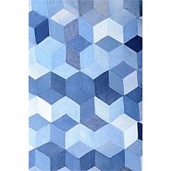 Alfombra Denim cubos 60x90 cm