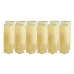 Pack 12 velas pilar 7x10 cm beige