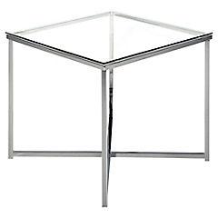 Mesa cuadrada Cross vidrio 50x50x45 cm