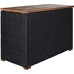 Caja de lavandería 55x35x85 cm ratán sintético Café