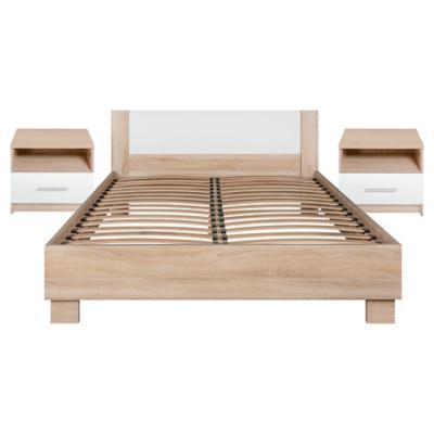 Combo cama aramis 2 plazas 2 veladores for Sofa cama sodimac