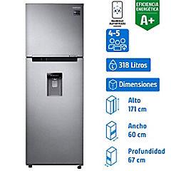 Refrigerador no frost 318 litros silver