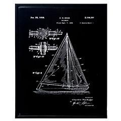 Cuadro enmarcado 60x80 cm plano velero 1