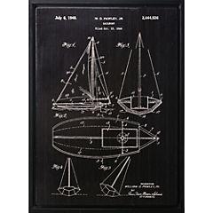 Cuadro Plano velero 2 80x60x4