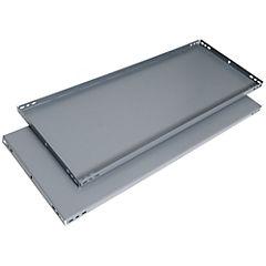 Bandeja para estante 100x50 cm metal gris