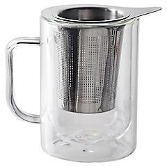 Mug doble vidrio con infusor 300 ml