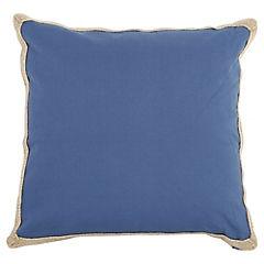 Cojín azul yute 50x50 cm