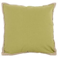 Cojín verde yute 50x50 cm
