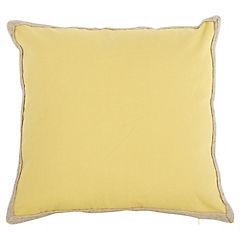 Cojín amarillo yute 50x50 cm