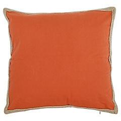 Cojín naranjo yute 50x50 cm