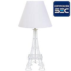 Lámpara de mesa Eiffel E27 blanco 40W