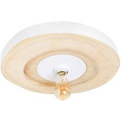 Lámpara de techo madera E27 60W
