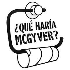 Sticker 28x30 cm qué haría Mcgyver?