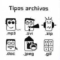 Sticker 28x30 cm tipo archivos
