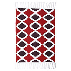 Alfombra rombos rojo/negro 60x90 cm