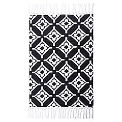 Alfombra cubista negra 60x90 cm