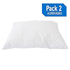 Pack de 2 almohadas 45x65 cm light 132 hilos
