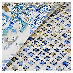 Quilt microfibra 2 plazas patch turquesa