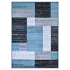 Alfombra frize villa azul 150x200 cm