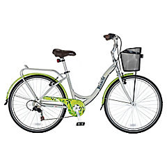 Bicicleta City 26 lady alloy plateado