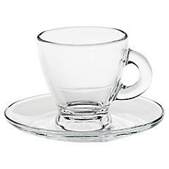 Juego de café 12 piezas transparente