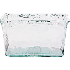 Florero 20 cm vidrio reciclado blanco