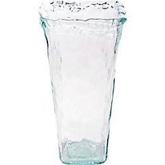 Florero 33 cm vidrio reciclado transparente