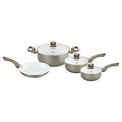 Batería de cocina 7 piezas cerámica Champagne