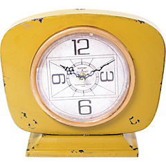 Reloj de mesa 22,5x26 cm amarillo