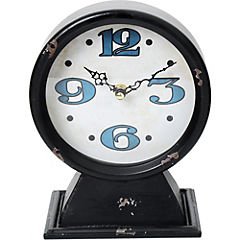 Reloj de mesa negro 16.5x21.5 cm