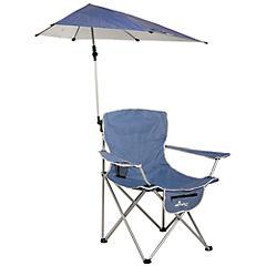 Silla de camping XL + sombrilla azul