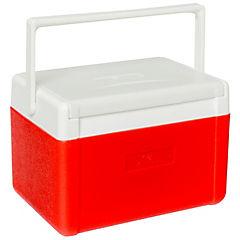 Nevera rígida con asa 5 litros rojo