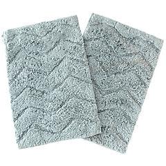 Pack de pisos zigzag negro 40x60 cm