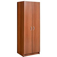 Clóset 2 puertas walnut 59x170x47 cm