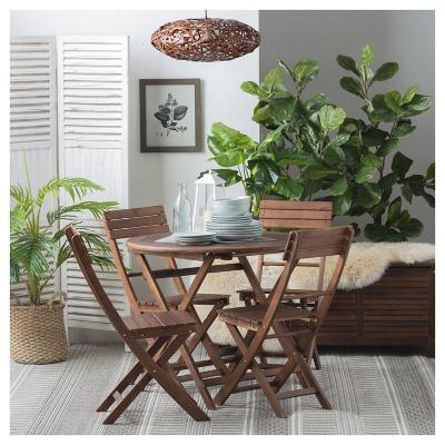 Juego de terraza 5 piezas madera for Sodimac terrazas