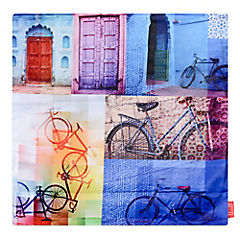 Funda para cojín bicicletas 45x45 cm